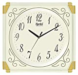Ajanta Quartz Plastic Wall Clock-387 (26.5 X 25.5, Ivory)
