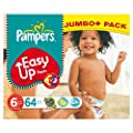 Pampers Easy Ups Size 6 (Extra Large) Mega Pack 64 Nappies