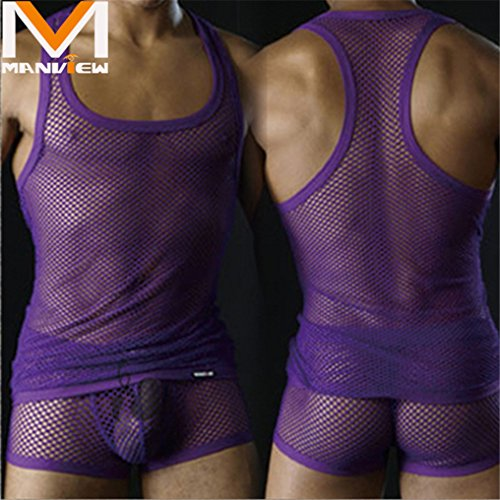 Super sexy hot hunk großen Mesh Weste Perspektive sexy Herren-Unterwäsche sexy Dessous fegte Hause den Zustrom von europäischen und amerikanischen Mode für Männer