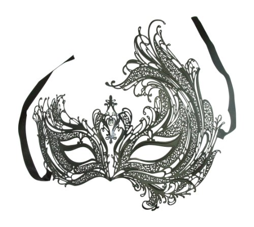 Delicate Phoenix Queen Venice Masquerade Ball Prom Night Mask w/ Diamonds
