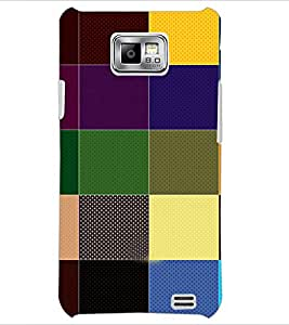 PrintDhaba Coloured blocks D-4830 Back Case Cover for SAMSUNG GALAXY S2 (Multi-Coloured)