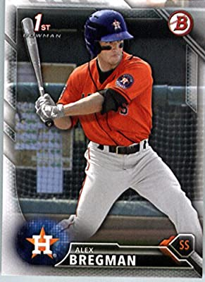 2016 Bowman Prospects #BP4 Alex Bregman Houston Astros Baseball Card in Protective Screwdown Display Case