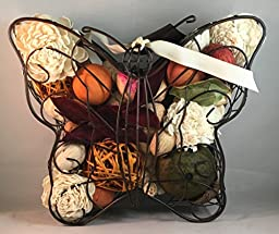 Potpourri Holder Butterfly W/Scented Potpourri 8\