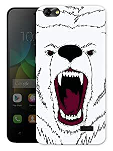 """Humor Gang Angry Bear Face Printed Designer Mobile Back Cover For """"Huawei Honor 4C"""" (3D, Matte, Premium Quality Snap On Case)"""