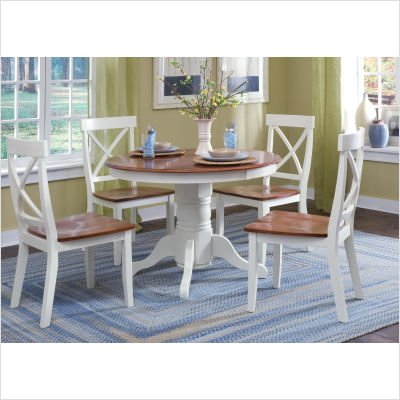 Cheap Dining Room Furniture on Oak Dining Room Furniture Store  5 Pc Round Pedestal Dining Table Set