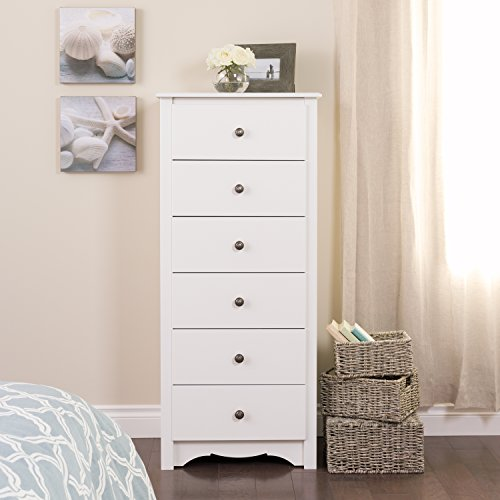 Prepac WDC-2354 Monterey 6-Drawer Lingerie Chest (White)