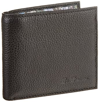 Ben Sherman Men's Shirt Wallet, Black, One Size