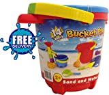 BUCKET PLAYSET 14 PIECES SAND & WATER FUN (FREE U.K. DELIVERY)