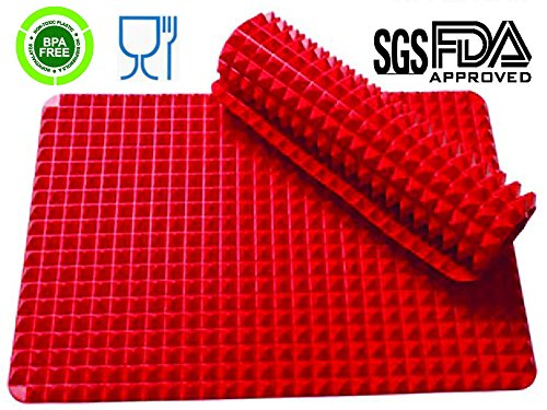 Jollylife Silicone Non-stick Healthy Cooking Baking Mat, Red