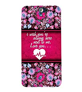Love You Quote Cute Fashion 3D Hard Polycarbonate Designer Back Case Cover for HTC One A9