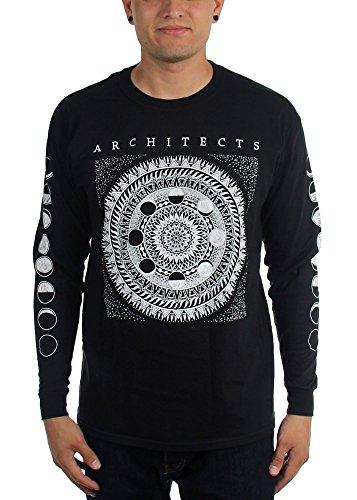 Architects-Arco Moon-Maglietta a maniche lunghe da uomo nero Small