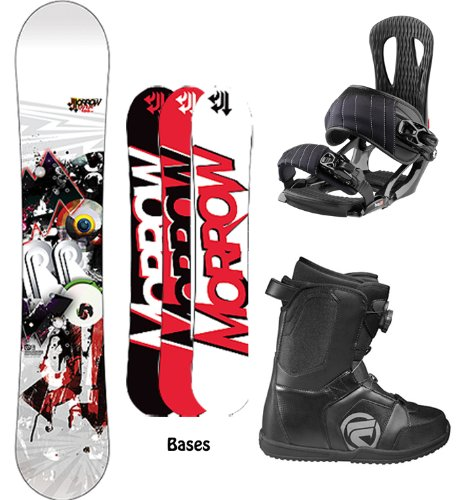 Morrow Radium Complete Snowboard Package with Head NX One Bindings and Flow Vega BOA Men's Boots Board Size 159