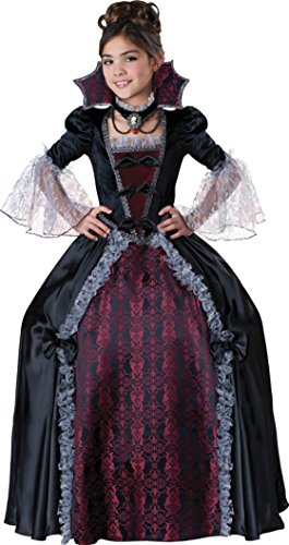 Girls Vampiress Of Versailles Kids Child Fancy Dress Party Halloween Costume
