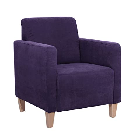Max Winzer Sessel Milla, Veloursstoff violett