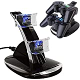 LED Dual Controller Charger Dock Station Stand Charging for Playstation PS3