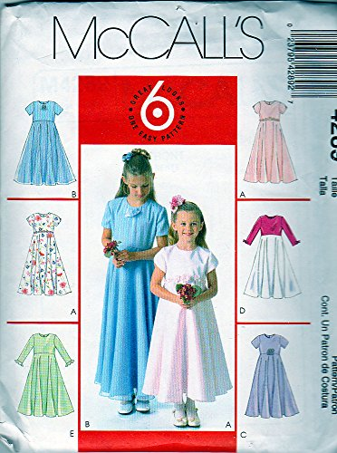 McCall's Sewing Pattern 4289 ©2003 Girls' Special Occasion Dresses, Size CHH 7-8-10-12