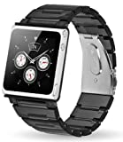 Iwatchz Apple Nano New KUBE CLEAR translucent plastic Collection + transparent plate - black - Wristband for IPOD NANO