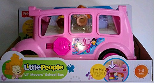 Fisher Price Little People Lil' Movers Pink School Bus Ages 1-5 Years front-798221