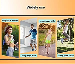 2 Pack Kids Speed Jump Rope, Ponydash Safe Lightweight Anti-Slip Foam Grip Handles Exercise Fitness Skipping Ropes Gym for Women Men-Perfect for All Jumping Experience Levels, Workout(Blue -Yellow)