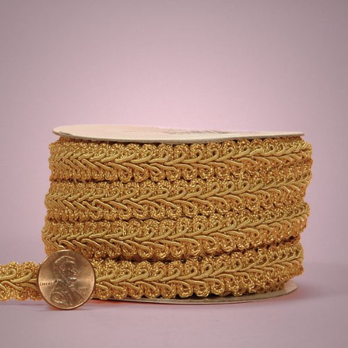 "Old Gold Gimp Braid Trim, 5/8"" X 10yd"