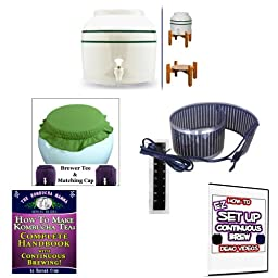 KKamp Continuous Brew Kombucha BREWER ONLY - GS w/ Stand + Essential Heat Strip + Tee/Cap Set