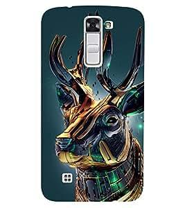 Chiraiyaa Designer Printed Premium Back Cover Case for LG K10 LTE (deer vibrant 3d) (Multicolor)
