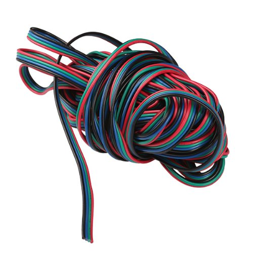 Generic Flexible 10M 4-Pin Extension Connector Cable Cord For 3528 5050 RGB LED Strip