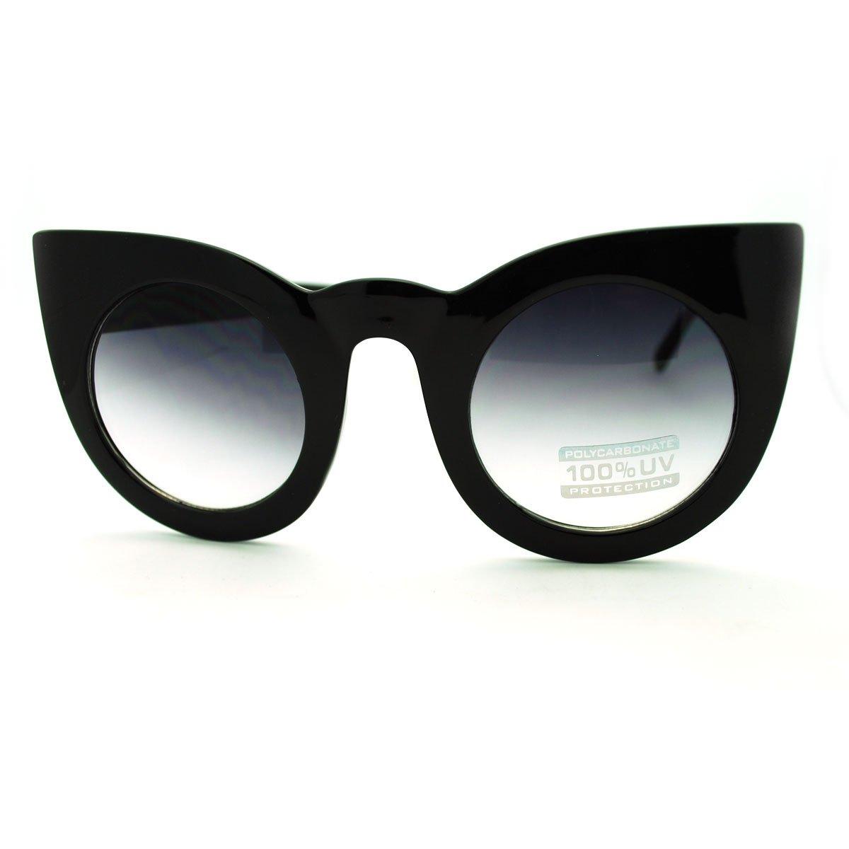 Oversized Round Cateye Sunglasses Womens Vintage Retro Eyewear 0