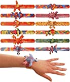 12 x ANIMAL SNAP BRACELET CHILDREN KIDS LOOT GOODY PARTY BAGS PINNATA FILLERS TOYS