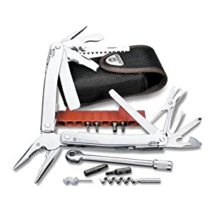 Victorinox SwissTool 105mm Spirit Plus Ratchet Multi-Tool - Leather Pouch by Victorinox