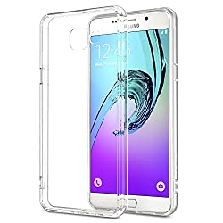 "Galaxy A5 Case - MoKo Halo Series [Ultra Hybrid] Back Cover with TPU Cushion Technology Corners + Clear Panel for Samsung Galaxy A5 2016 5.2"", Crystal Clear (Not Fit Galaxy A5 5.0"" 2015 Edition) from MoKo"