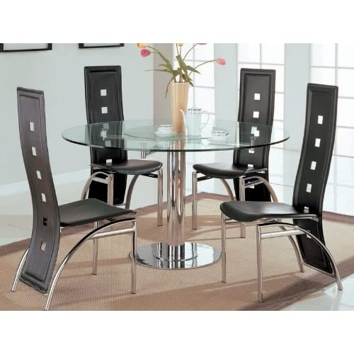 Amazon.com - 5pc Dining Table & Chairs Set with Lazy Susan