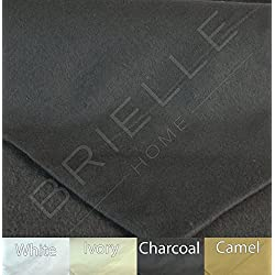 Brielle 100-Percent Cotton Flannel Sheet Set, Queen, Charcoal
