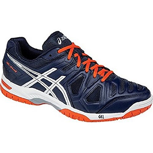 Asics Gel-Game 5 Scarpe, Tennis, Uomo, Multicolore (Sky Captain/White/Orange), 41.5 EU