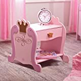 "Princess Toddler Side Table (Pink with gold accent) (15.75""H x 15.25""W x 14.25""D)"