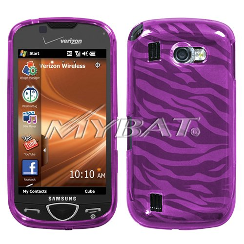 Hot Pink Zebra Skin Candy Skin Cover for Samsung i920 (Omnia II)
