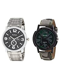 Relish Analog Round Casual Wear Watches For Men Combo - B01ANCDR18