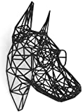 "3D Printed Hanging ""Dawg"" Sculpture, Black"