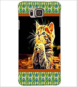 PrintDhaba Digital Kitty D-6045 Back Case Cover for SAMSUNG GALAXY ALPHA (Multi-Coloured)