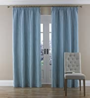 Fluid Leaf Pencil Pleat Curtains