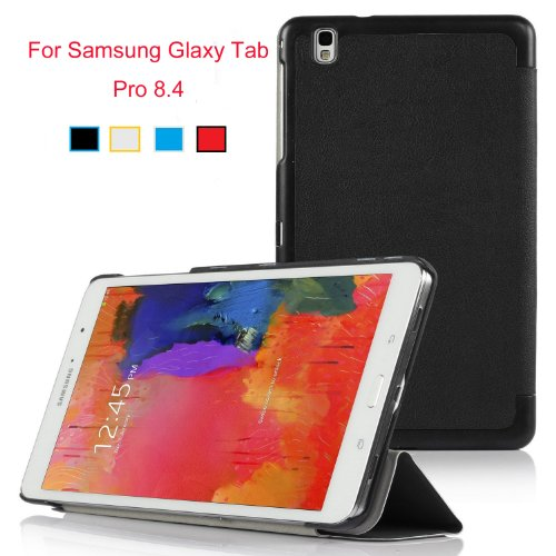 VSTN®Samsung Galaxy Tab Pro 8.4 Ultra-Thin Multi-angle Stand Slim Smart Cover Case, only fit Galaxy Tab Pro 8.4 tablet (For Galaxy Tab Pro 8.4, Black)