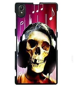 Fuson 2D Printed Skull Face Designer back case cover for Sony Xperia Z1 - D4620