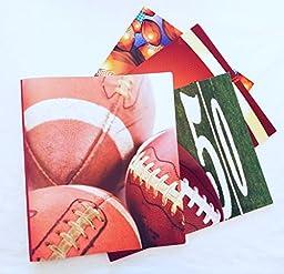 Sports Fans\' MVP Portfolio Folder and Binder Set- Football