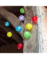 Guirlande Lumineuse LED Solaire avec 10 Lampions Chinois Multicolores de Lights4fun