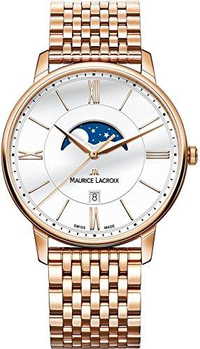 Maurice Lacroix Eliros MOONPHASE Reloj de Pulsera para hombres Indicador de la fase lunar