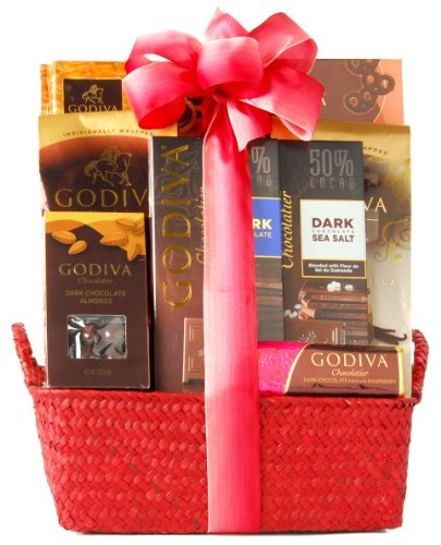 Wine.com Dark Chocolate Gift Basket Containing