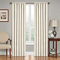 Eclipse Kendall Blackout Thermal Curtain Panel,Ivory,63-Inch, Single Panel Only