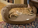 Super Absorbent Therapeutic Bolster Bed large light brown