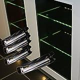 LED-Glaskantenbeleuchtung-4-er-Komplettset-Glasbodenbeleuchtung-warm-wei-Art-2275-4-LED-Clip-Metall-Vitrinenbeleuchtung-Glasplattenbeleuchtung