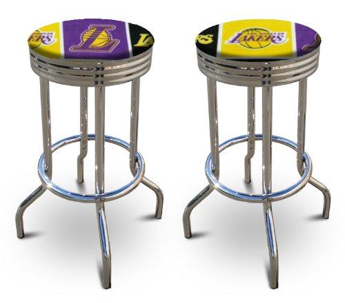 "2 29"" Tall Los Angeles Lakers Nba Basketball Themed Specialty / Custom Barstools Set front-1009073"
